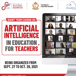 Short Term Course on artificial intelligence for Teachers commences with great zeal & enthusiasm at MIT Centre for future skills excellence